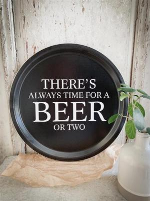 """Bricka """"Time for a Beer"""" (rund 31cm)"""