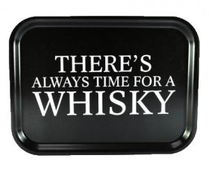 """Bricka """"Time for a whisky"""" (27x20cm)"""